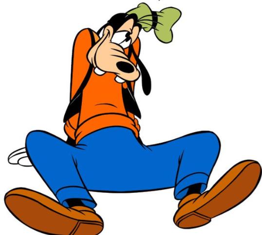 ディズニーの人気者、グーフィー...